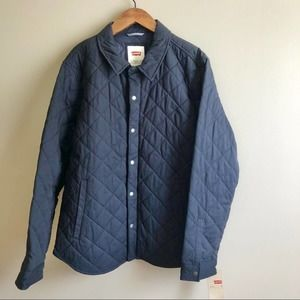 Levi's Men's Laydown Navy Quilted Jacket